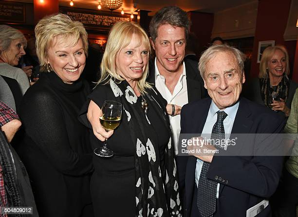 Tina Brown Alison Wright Hugh Grant and Harold Evans attend the film premiere of 'Attacking The Devil' at Picturehouse Central on January 13 2016 in...