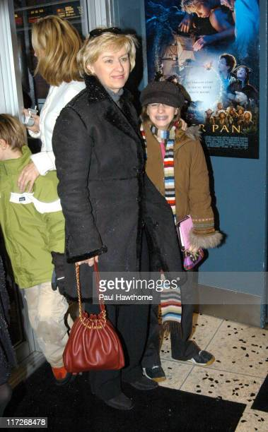 Tina Brown and daughter during Peter Pan Special Screening New York at 72nd Street East Theatre in New York City New York United States