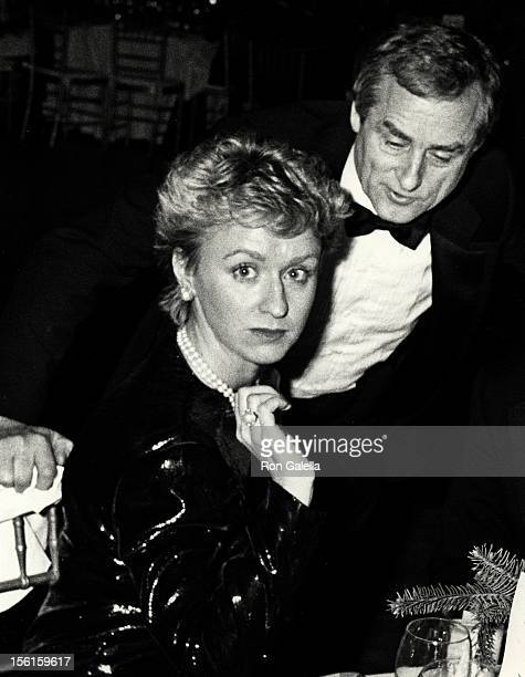 Tina Brown and journalist Harold Evans attend the party for Night of 100 Trees Gala on December 9 1987 at Club 1018 in New York City