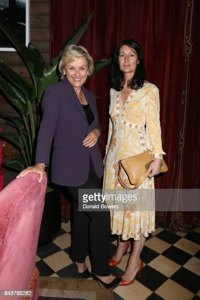 Tina Brown and Mission Magazine Founder and Editor in Chief Karina Givargisoff celebrate the launch of Mission Magazine with Belvedere Vodka at Rose...