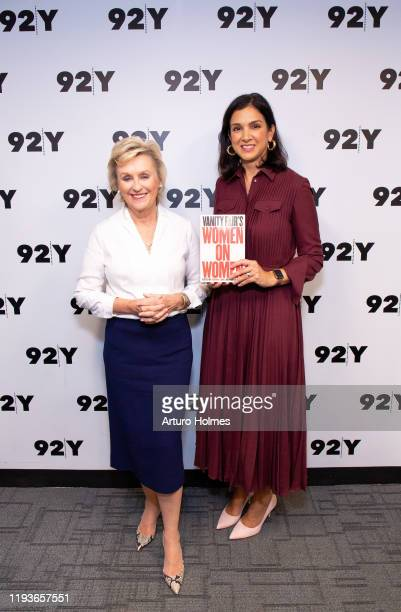 Tina Brown and Radhika Jones attend Vanity Fair's Women On Women at 92nd Street Y on December 12 2019 in New York City