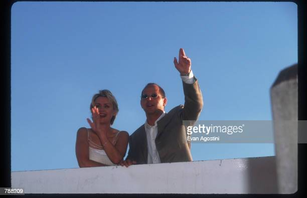 Tina Brown and Ron Galotti attends the launch of their new magazine Talk August 2 1999 in New York City Former New Yorker editor Brown and former...