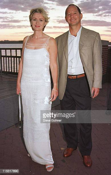 Tina Brown and Ron Galotti during Talk Magazine Launch Party August 2 1999 at Liberty Island in New York City New York United States