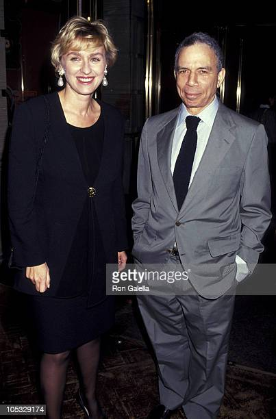 Tina Brown and SI Newhouse during Unveiling of the 1991 Holiday Windows at Barneys at Barneys in New York City New York United States
