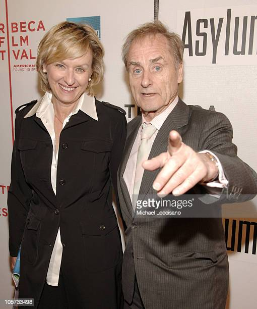 Tina Brown and Sir Harold Evans during 4th Annual Tribeca Film Festival 'Asylum' Premiere Arrivals at Stuyvesant High School in New York City New...