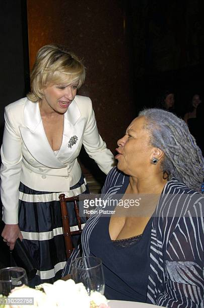 Tina Brown and Toni Morrison during The 2005 PEN Montblanc Literary Gala at The American Museum of Natural History in New York City New York United...