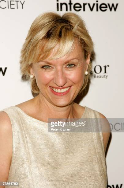 Tina Brown arrives during a screening of Interview hosted by The Cinema Society and Dior Beauty at the Tribeca Grand Screening Room on July 11 2007...