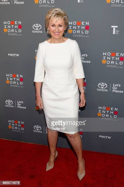 Tina Brown attends Tina Brown's 8th Annual Women in the World summit at Lincoln Center for the Performing Arts on April 5 2017 in New York City