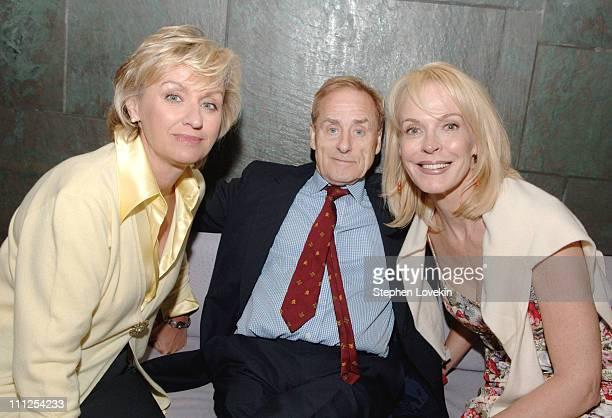 Tina Brown Harry Evans and Nancy Collins during Discovery Channel Hosts Coctail Reception and Screening of The Flight That Fought Back 6 August 2005...