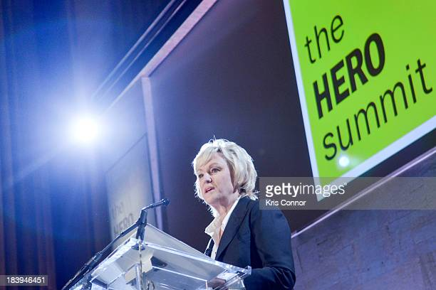 Tina Brown speaks during The Daily Beast's 2nd Annual Hero Summit at Andrew W Mellon Auditorium on October 10 2013 in Washington DC