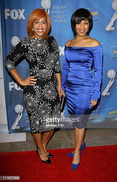 Tina Campbell and Erica Campbell of Mary Mary arrive to the 40th NAACP Image Awards PreShow Gala held at the Creative Artists Agency on February 11...