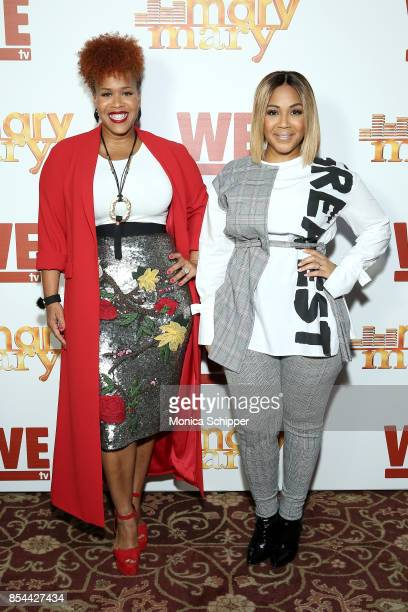 Tina Campbell and Erica Campbell of Mary Mary attend WE tv hosts an exclusive premiere event for the final season of Mary Mary on September 26 2017...