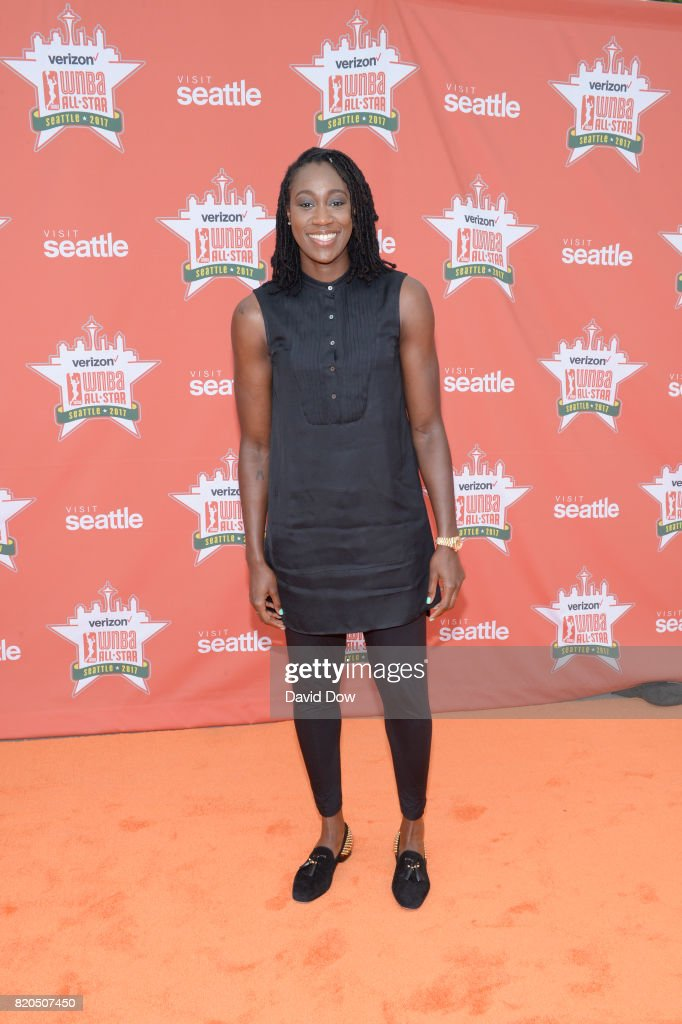 Tina Charles #31 of the New York Liberty poses for a photo during the WNBA All-Star Welcome Reception Presented by Visit Seattle as part of the 2017 WNBA All-Star Weekend at Chihuly Gardens and Glass on July 21, 2017 in Seattle, Washington. NOTE