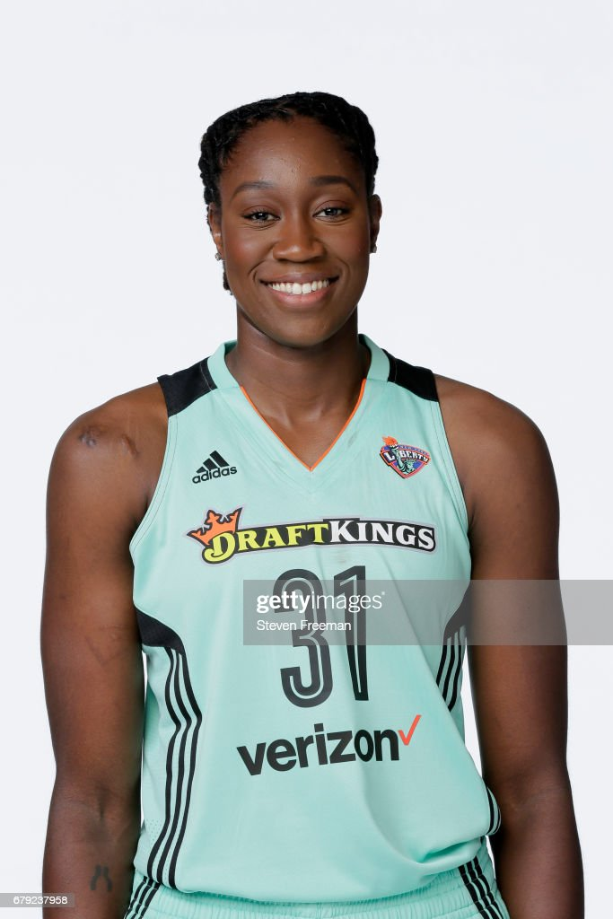 Tina Charles #31 of the New York Liberty poses for a portrait at Media Day at MSG Training Center on May 4, 2017 in Tarrytown, New York.