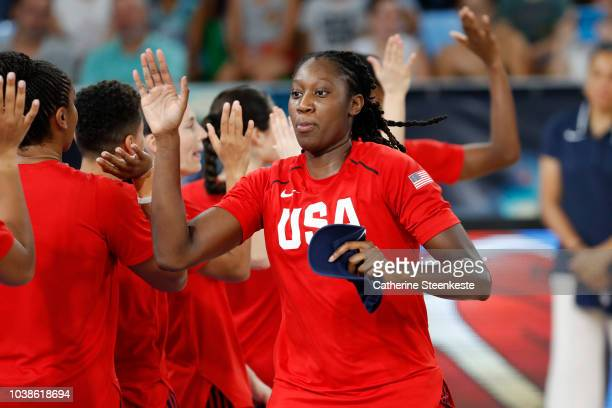 Jewell Loyd of the USA National Team handles the ball against the China National Team during 2018 FIBA Women's Basketball World Cup on September 23...
