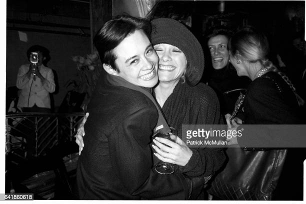 Tina Chow and Patti D'Arbanville at the Andy Warhol Memorial Tribute at the Diamond Horseshoe at the Paramount Hotel April 1 1987