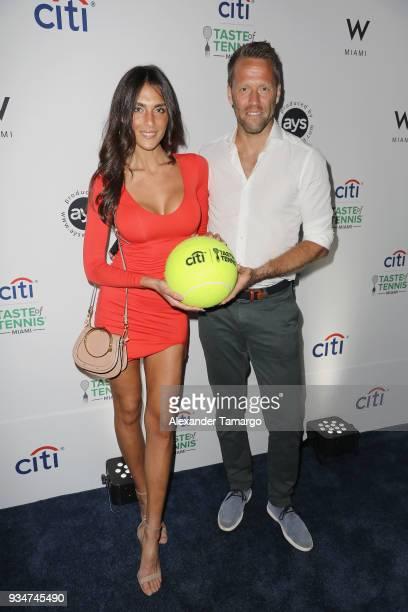 Tina Corinteli and Robert Lindstedt attend the Citi Taste Of Tennis Miami 2018 at W Miami on March 19 2018 in Miami Florida