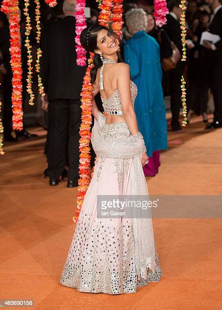 """Tina Desai attends The Royal Film Performance and World Premiere of """"The Second Best Exotic Marigold Hotel"""" at Odeon Leicester Square on February 17,..."""