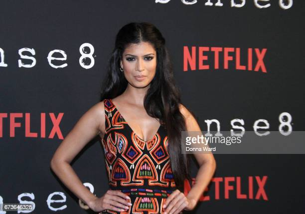 Tina Desai attends the Sense8 New York Premiere at AMC Lincoln Square Theater on April 26 2017 in New York City