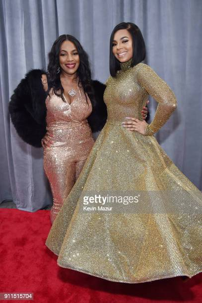 Tina Douglas and recording artist Ashanti attend the 60th Annual GRAMMY Awards at Madison Square Garden on January 28 2018 in New York City