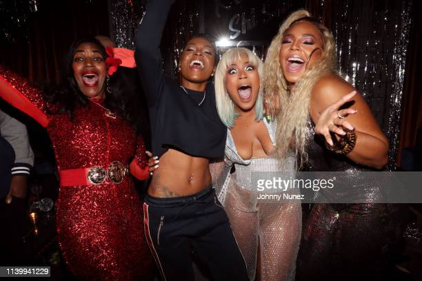Tina Douglas HoodCelebrityy Shia Douglas and Ashanti attend Shia's 30th Birthday Celebration at The Magic Hour on March 30 2019 in New York City