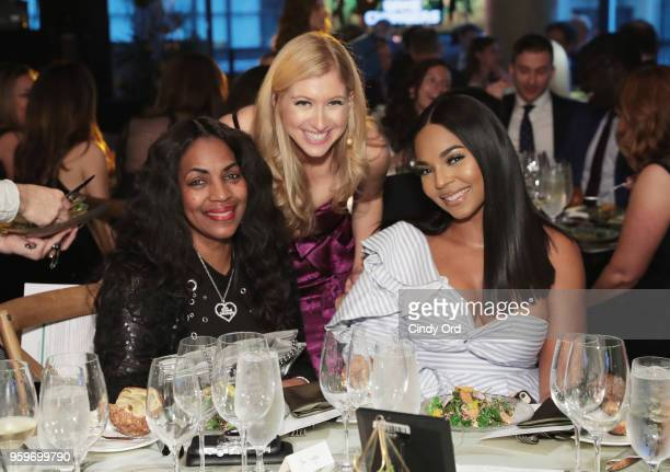 Tina Douglas Sara Eisen and Ashanti attend the 2018 Room to Read New York Gala on May 17 2018 at Kimpton Hotel Eventi in New York City