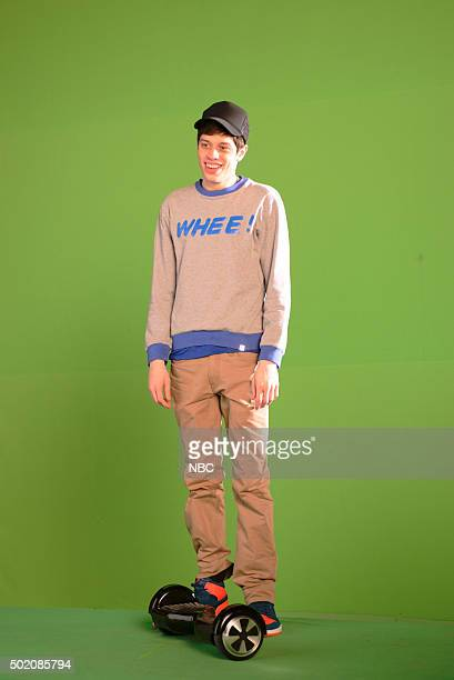 LIVE 'Tina Fey and Amy Poehler' Episode 1692 Pictured Pete Davidson during the 'Hoverboards' sketch on December 19 2015