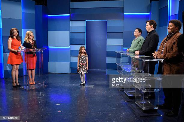LIVE 'Tina Fey and Amy Poehler' Episode 1692 Pictured Tina Fey Amy Poehler as Helen Walsh Bobby Moynihan as Brian Taran Killam as Steve and Kenan...