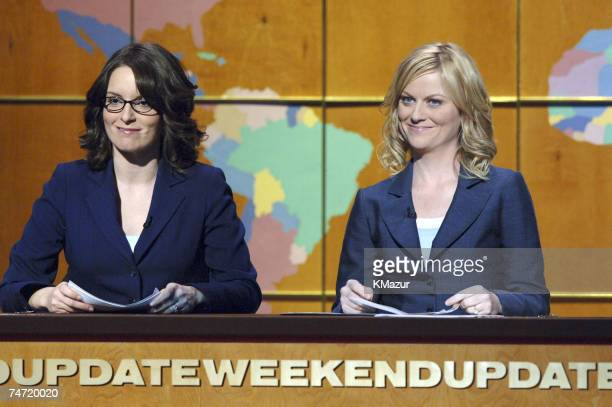 Tina Fey and Amy Poehler of Saturday Night Live at the Radio City Music Hall in New York City New York