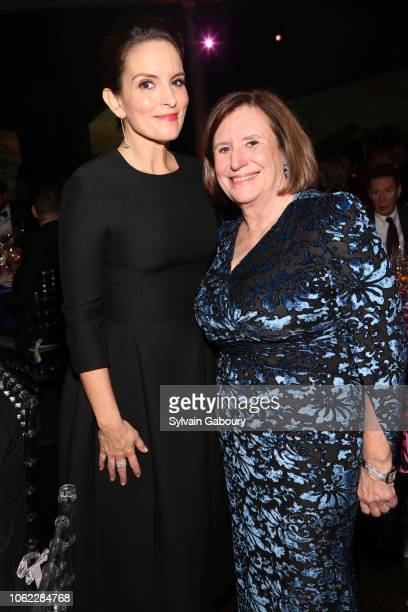 Tina Fey and Ellen V Futter attend American Museum Of Natural History's 2018 Museum Gala at American Museum of Natural History on November 15 2018 in...