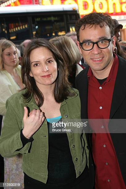 Tina Fey and Fred Armisen during Opening Night for 'Chitty Chitty Bang Bang' on Broadway Arrivals at The Hilton Theater in New York New York United...