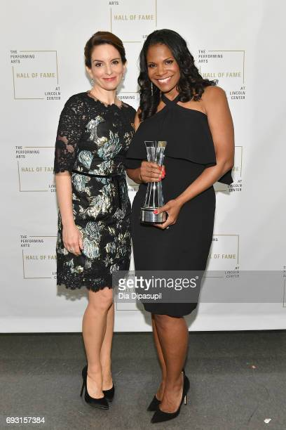 Tina Fey and Hall of Fame Inductee Audra McDonald attend Lincoln Center Hall Of Fame Gala at the Alice Tully Hall on June 6 2017 in New York City