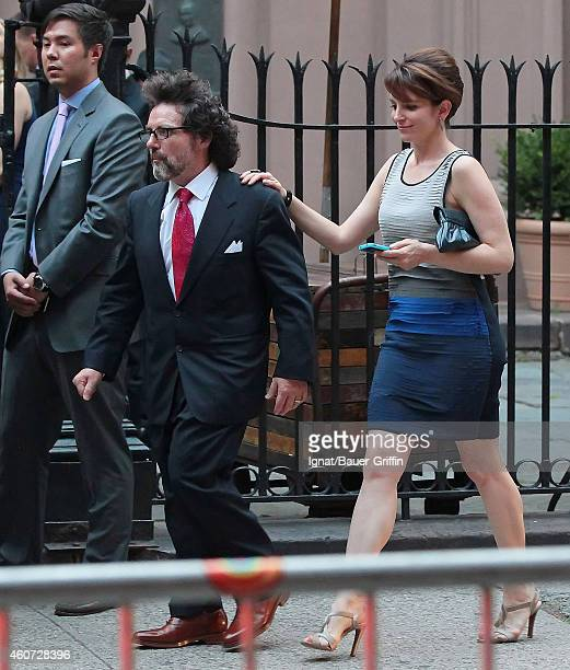 Tina Fey and husband Jeff Richmond are seen attending Alec Baldwin and Hilaria Thomas' wedding ceremony at St Patrick's Old Cathedral on July 01 2012...