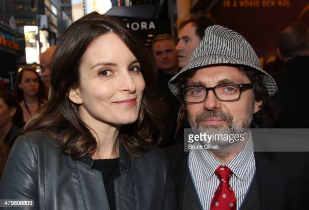 Tina Fey and husband Jeff Richmond attend the 'Aladdin' On Broadway Opening Night at The New Amsterdam Theatre on March 20 2014 in New York City