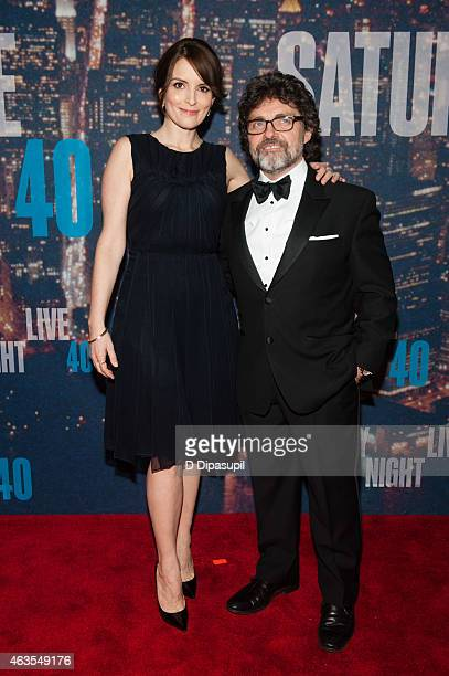 Tina Fey and husband Jeff Richmond attend the SNL 40th Anniversary Celebration at Rockefeller Plaza on February 15 2015 in New York City
