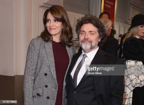 Tina Fey and husband Jeff Richmond pose at the opening night of the hit play To Kill a Mockingbird on Broadway at The Shubert Theatre on December 13...