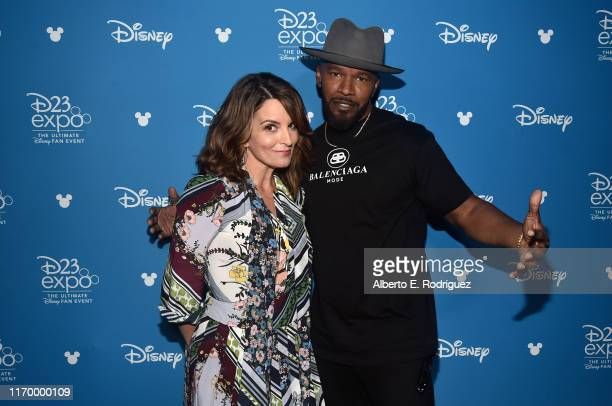 Tina Fey and Jamie Foxx of 'Soul' took part today in the Walt Disney Studios presentation at Disney's D23 EXPO 2019 in Anaheim Calif 'Soul' will be...