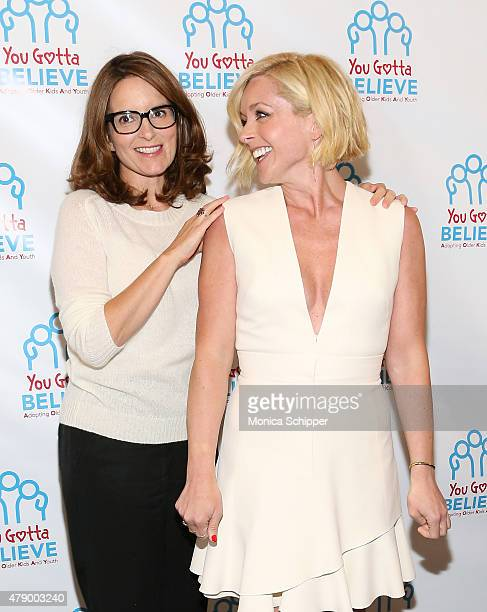 Tina Fey and Jane Krakowski attend 'Voices For The Voiceless Stars For Foster Kids' Event at St James Theater on June 29 2015 in New York City