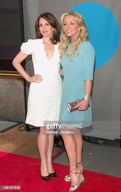 Tina Fey and Jane Krakowski during NBC 20072008 Primetime Preview Red Carpeti Upfronts Arrivals at Radio City Music Hall in New York City New York...