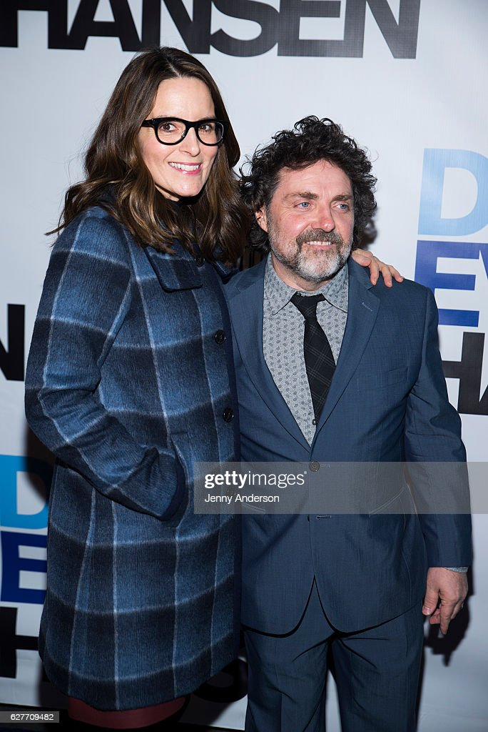 Tina Fey and Jeff Richmond attend 'Dear Evan Hansen' opening at Music Box Theatre on December 4, 2016 in New York City.