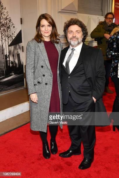 Tina Fey and Jeff Richmond attend opening night of To Kill A Mocking Bird at the Shubert Theatre on December 13 2018 in New York City