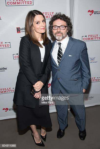 Tina Fey and Jeff Richmond attend the 'Fully Committed' Broadway opening night after party at Eventi Hotel on April 25 2016 in New York City