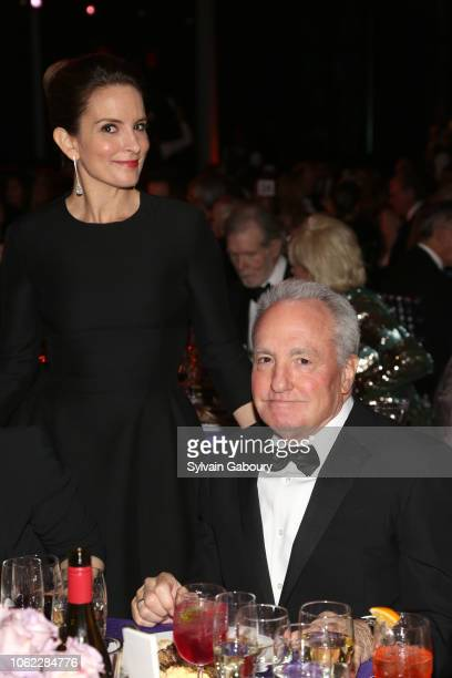 Tina Fey and Lorne Michaels attend American Museum Of Natural History's 2018 Museum Gala at American Museum of Natural History on November 15 2018 in...