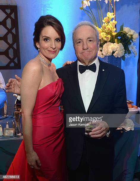 Tina Fey and Lorne Michaels attend the Universal NBC Focus Features E Sponsored by Chrysler Viewing And after party with Gold Meets Golden held at...