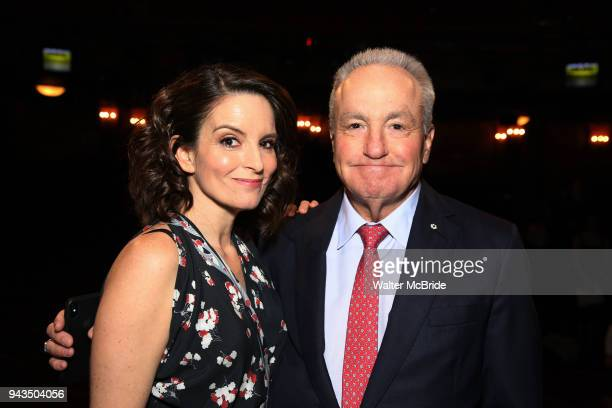 Tina Fey and Lorne Michaels during the Actors' Equity Opening Night Gypsy Robe Ceremony honoring Brendon Stimson for Mean Girls at the August Wilson...