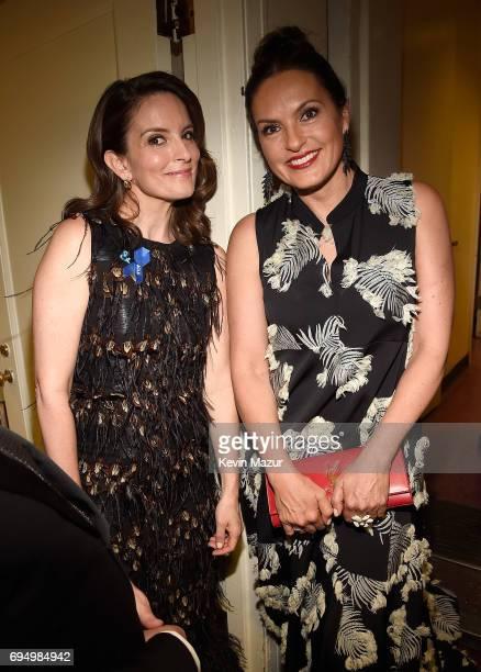 Tina Fey and Mariska Hargitay attend the 2017 Tony Awards at Radio City Music Hall on June 11 2017 in New York City