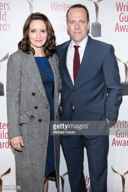 Tina Fey and Robert Carlock attend the 2018 Writers Guild Awards NYC Ceremony on February 11 2018 in New York City