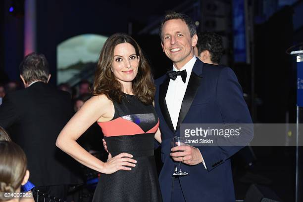 Tina Fey and Seth Meyers attend the American Museum of Natural History's 2016 Museum Gala at American Museum of Natural History on November 17 2016...
