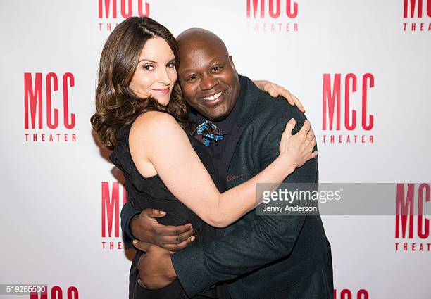 Tina Fey and Tituss Burgess attend 2016 Miscast Gala at Hammerstein Ballroom on April 4 2016 in New York City
