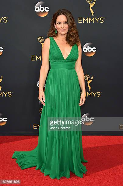 Tina Fey arrives at the 68th Annual Primetime Emmy Awards at Microsoft Theater on September 18, 2016 in Los Angeles, California.
